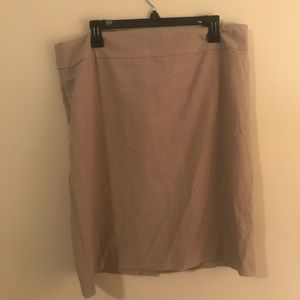 Khaki business professional skirt NWT